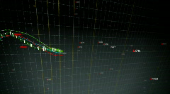 falling stock index fronted loop - stock footage