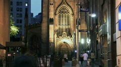 Ny financial district church Stock Footage