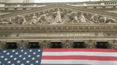 Ny stock exchange building Stock Footage