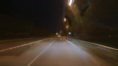 Time lapse night driving Stock Footage