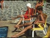 Children in swim school (vintage 8 mm amateur film) Stock Footage