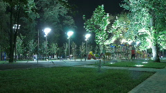Time lapse. nighttime streets of the city. Stock Footage