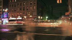 New york street at night Stock Footage