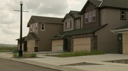 Abandoned homes in new subdivision, bad economy Stock Footage