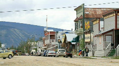 Dawson City Yukon street Canada P HD 1403 Stock Footage
