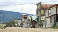 Dawson City Yukon street Canada P HD 1403 Stock Footage