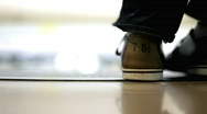 Shoes at Bowling Alley Stock Footage