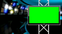 News Studio 9 - Virtual Green Screen News Loop Stock Footage