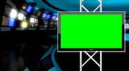 Stock Video Footage of News Studio 9 - Virtual Green Screen News Loop