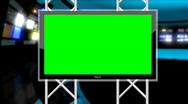 News Studio 9 - Virtual Green Screen News Loop Stock Footage