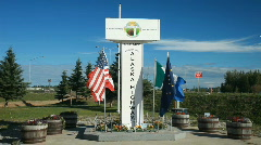 Alaska Highway 1422 end marker P HD 7790 - stock footage