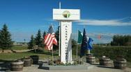 Alaska Highway 1422 end marker P HD 7790 Stock Footage