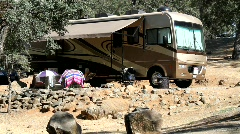 RV camping Stock Footage
