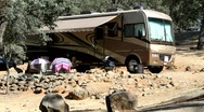 Stock Video Footage of RV camping
