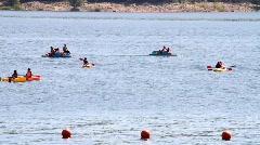 Lake Kayaks - stock footage