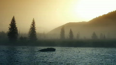 Mountain river timelapse 4 Stock Footage