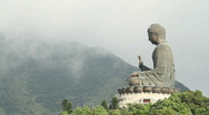 Stock Video Footage of Giant Buddha (real time)