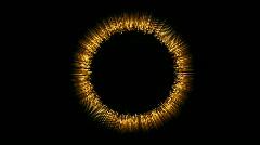 Flashing ring spot center magic fantasy material fireworks pattern symbol. Stock Footage