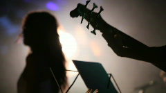 Jazz singer on stage Stock Footage