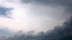 Rainy clouds in sky time lapse Stock Footage