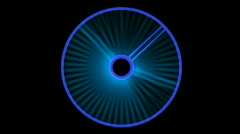 Futuristic tracking system,rotating blue ray,used as scan system.Engines,turbine Stock Footage