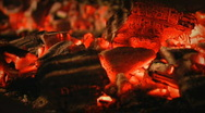 Burning coals in the furnace Stock Footage