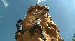 Fitness, kids on climbing wall, #1 Stock Footage