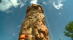 Time-lapse, kids on climbing wall Stock Footage