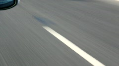 Intermittent road markings Stock Footage