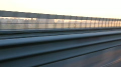 Fast driving on the bypass highway around St. Petersburg Stock Footage
