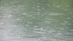 Raindrops - stock footage
