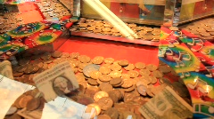 Quarters Game at Carnival (HD) c Stock Footage