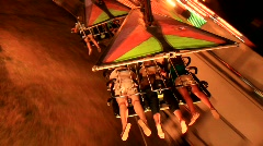 Hang Glider Carnival Ride (HD) c Stock Footage