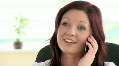 Radiant young woman phoning - stock footage