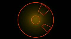 Rotation tech GPS background,software panel & Radar scan. Stock Footage