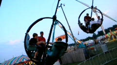 POV on carnival ride state fair (HD) c Stock Footage