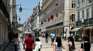Stock Video Footage of Lisbon Street