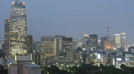 Stock Video Footage of Tokyo at twilight