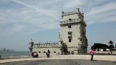 Belem Tower, Lisbon Stock Footage