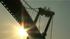 coucher de soleil sur le pont d'Aquitaine 1 - stock footage