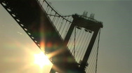 Stock Video Footage of coucher de soleil sur le pont d'Aquitaine 1