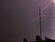 2K Film 24p - Super lightning storm 2010 series 4 Stock Footage