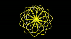 Rotating yellow flower pattern.petal,pistil,silk,cocoon,pupa,signal,confusion, - stock footage