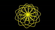 Stock Video Footage of Rotating yellow flower pattern.petal,pistil,silk,cocoon,pupa,signal,confusion,