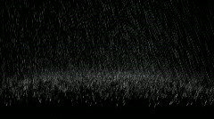 Hard rain with splashes - 3 clips Stock Footage