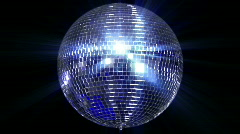 disco mirror ball center wide - stock footage