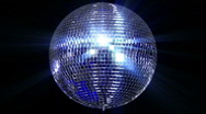 Stock Video Footage of disco mirror ball center wide