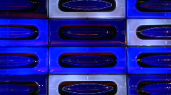 Blue disco light wall loopable Stock Footage