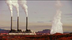Power Station Pollution - stock footage