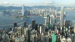 Busy Victoria Harbor in Hong Kong Stock Footage
